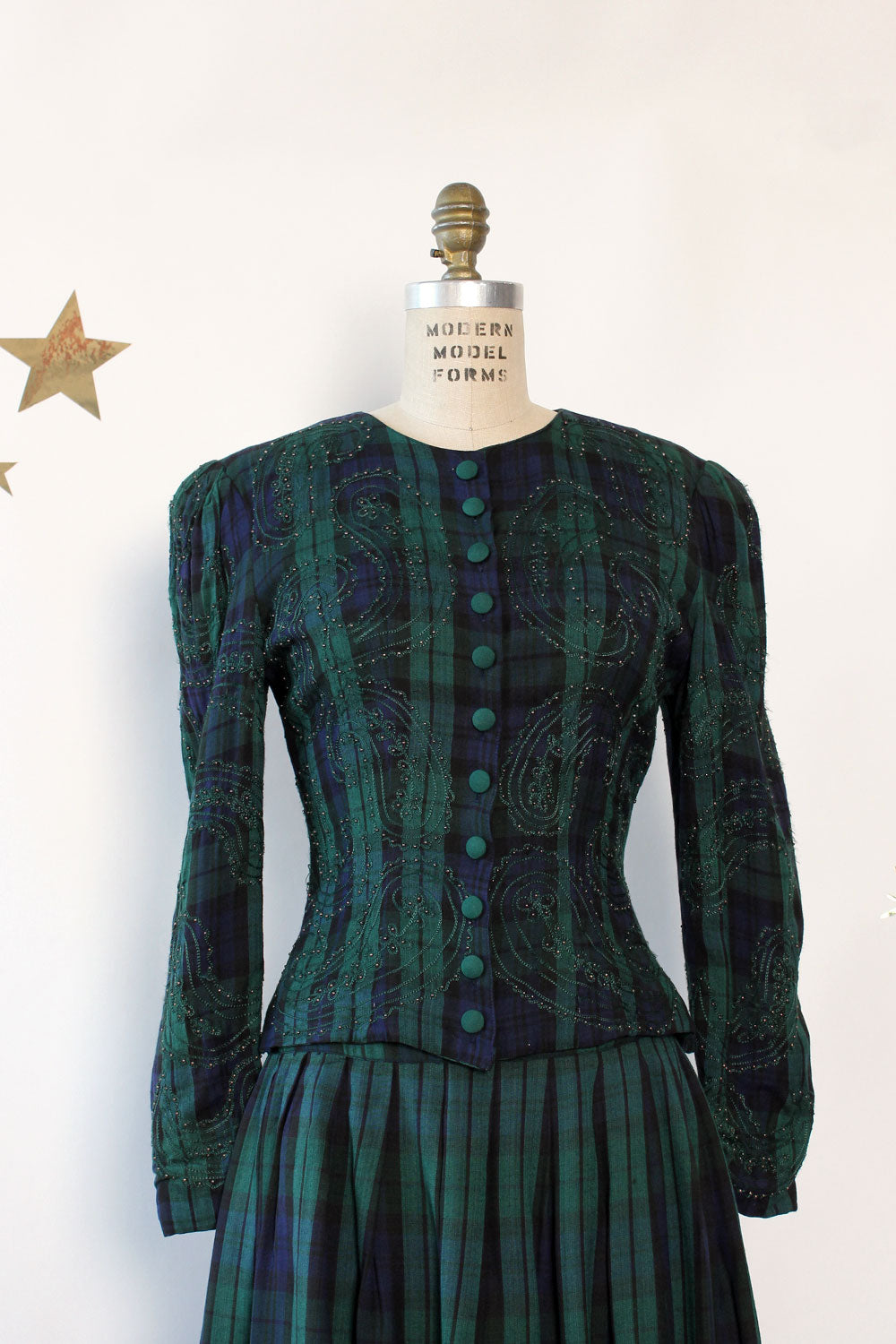 Elizabeth Beaded Tartan Set S/M