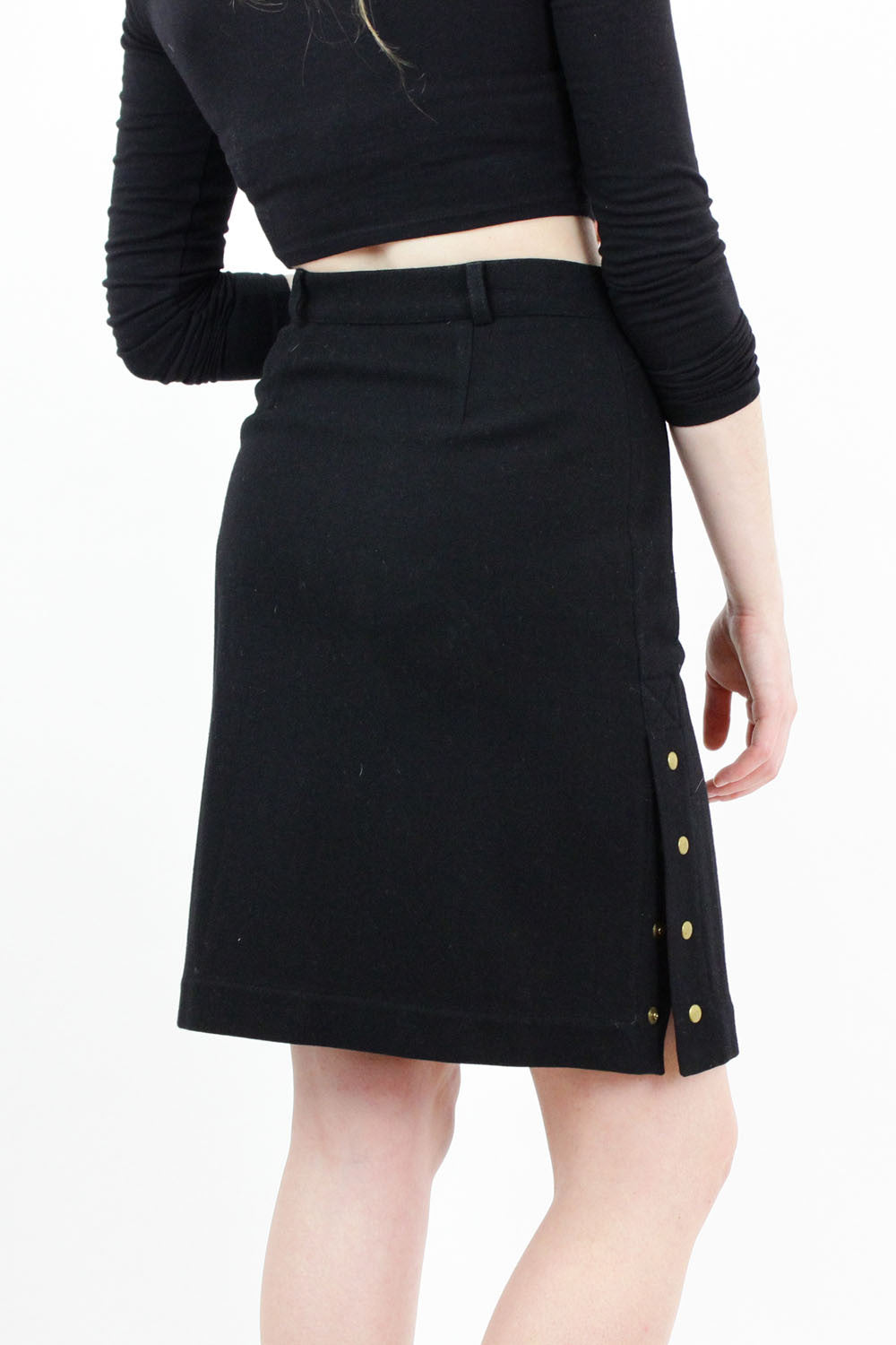 Penny Black High Waist Snap Skirt S