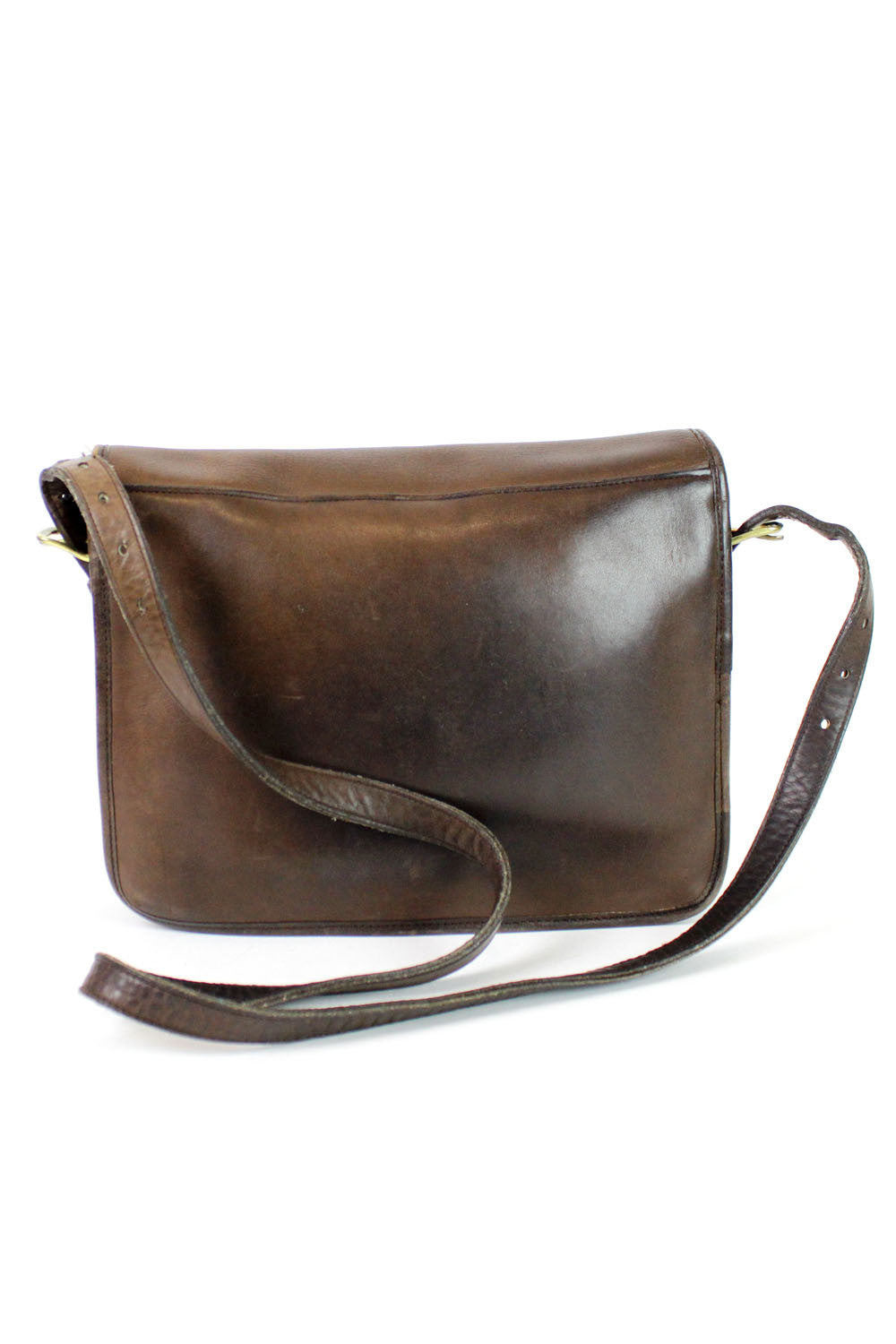Coach 1970s walnut messenger