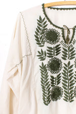 Olive Branch Peasant Top