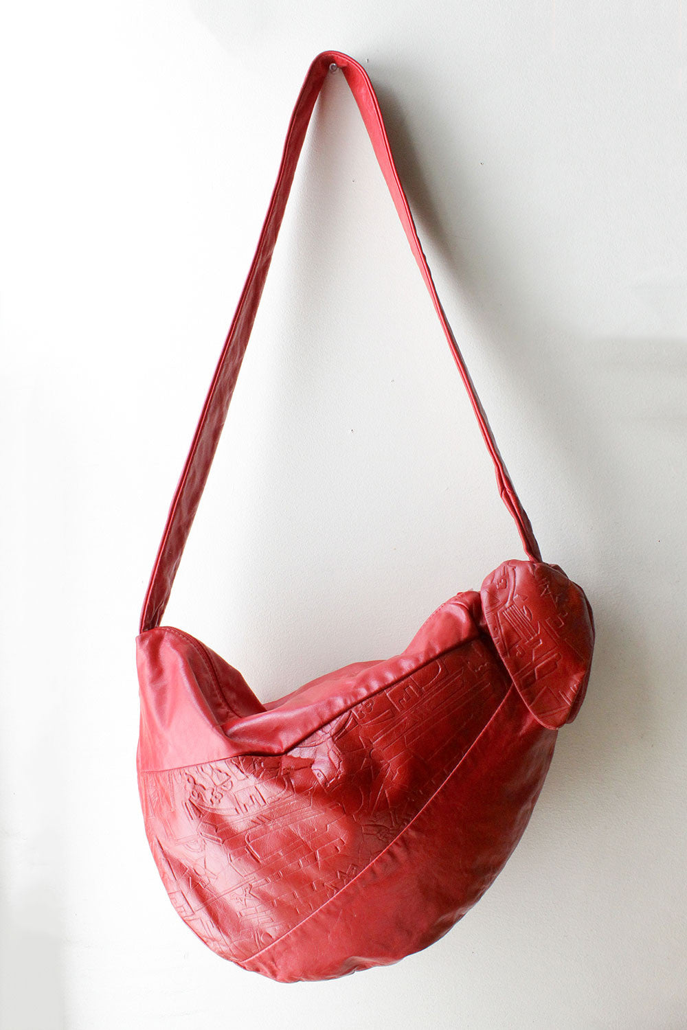 Cherry Red Slouch Bag