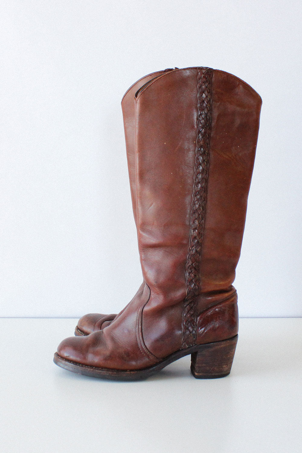 Frye Braided Campus Boots 9