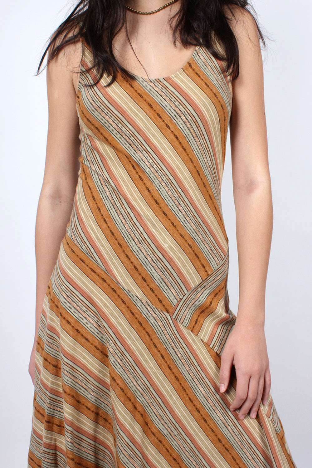 Desert Stripe Flare Dress S
