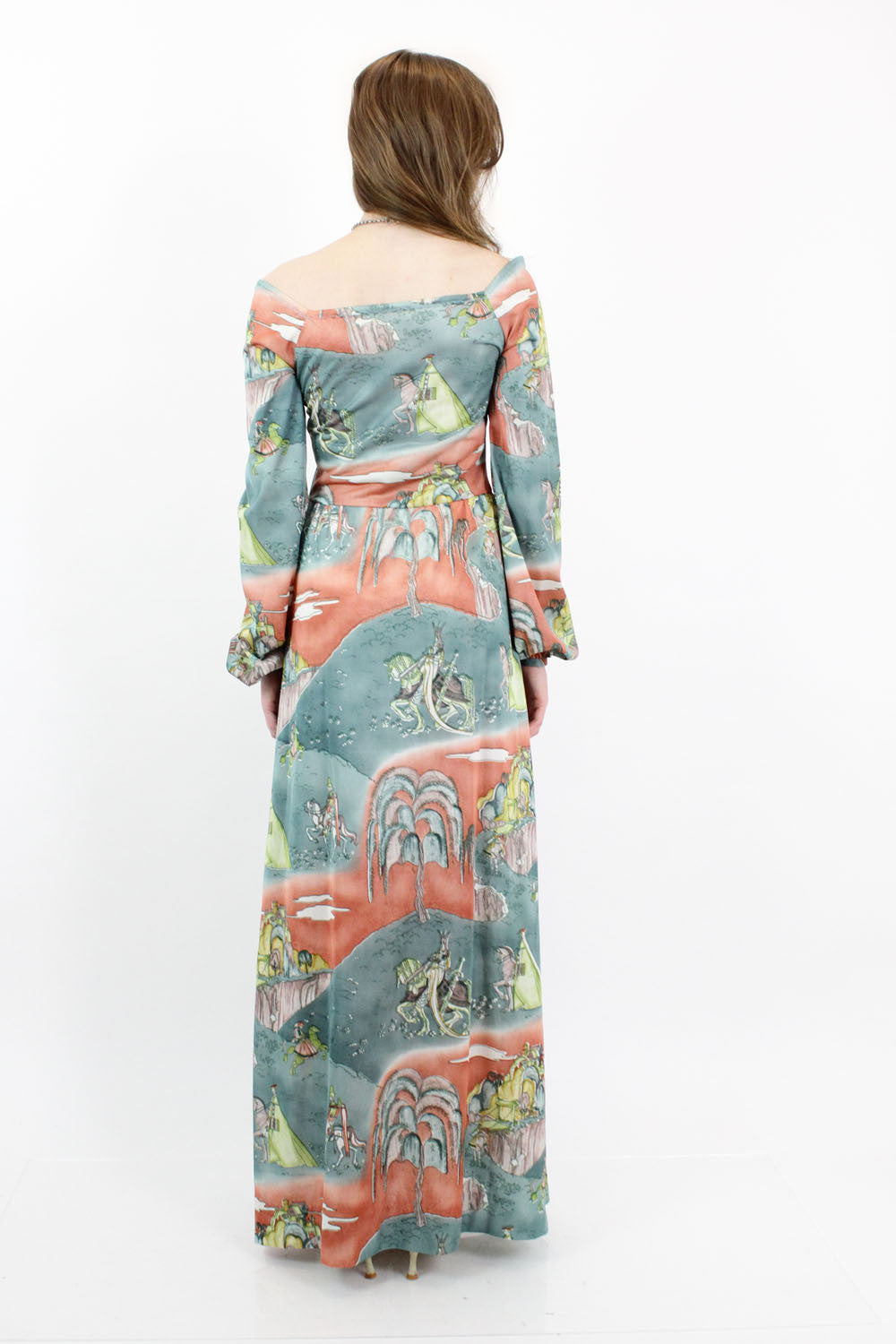 70s Fairy Tale Maxi Dress S