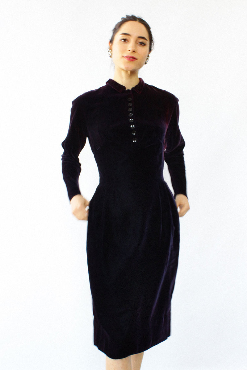 Royal Velvet Fitted Dress S/M