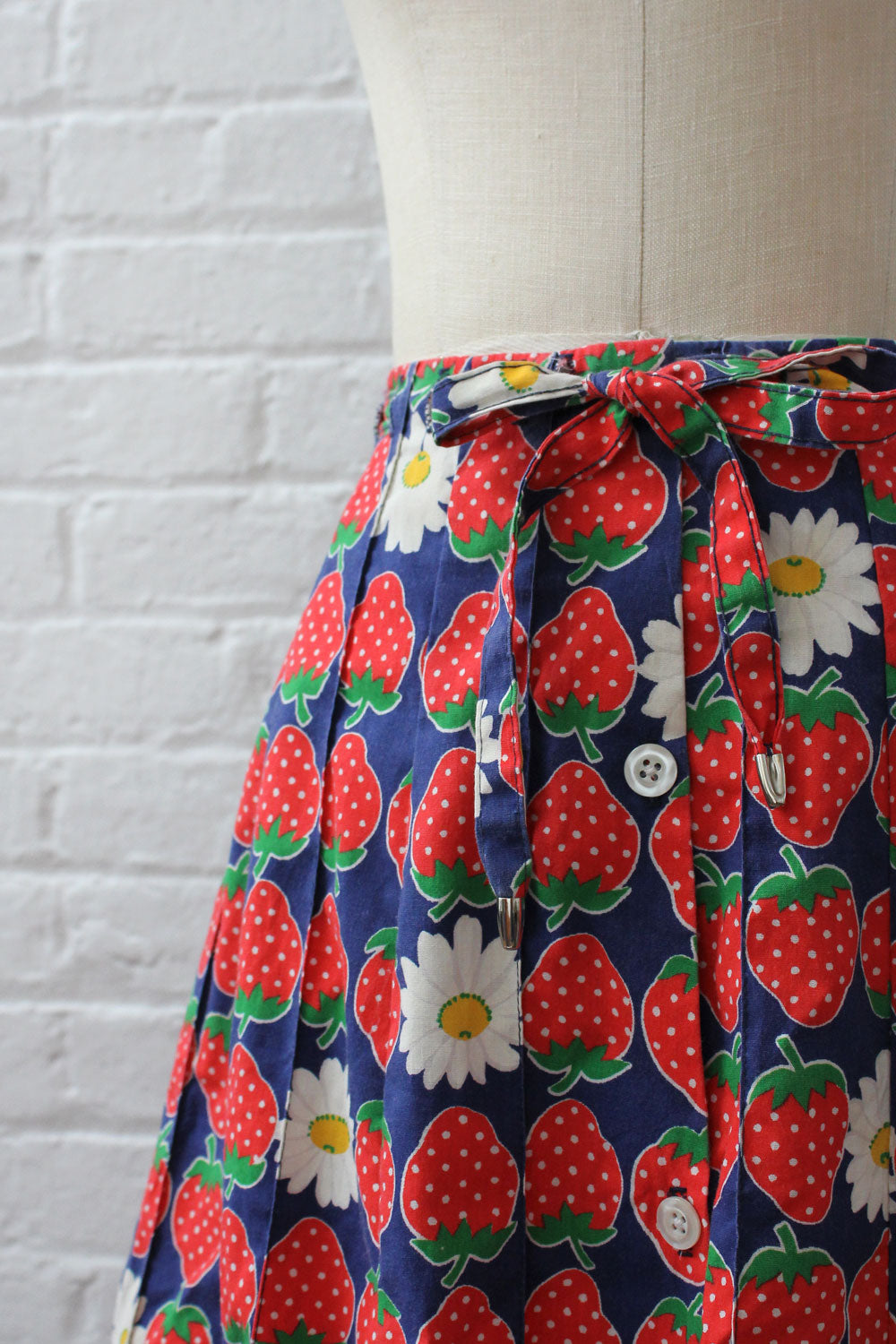 Strawberry Daisy Fields Skirt S/M