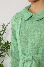 Lime Green Linen Tie Jacket XS