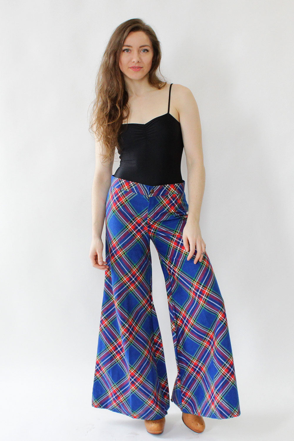 Blair Plaid Wide Leg Pants S