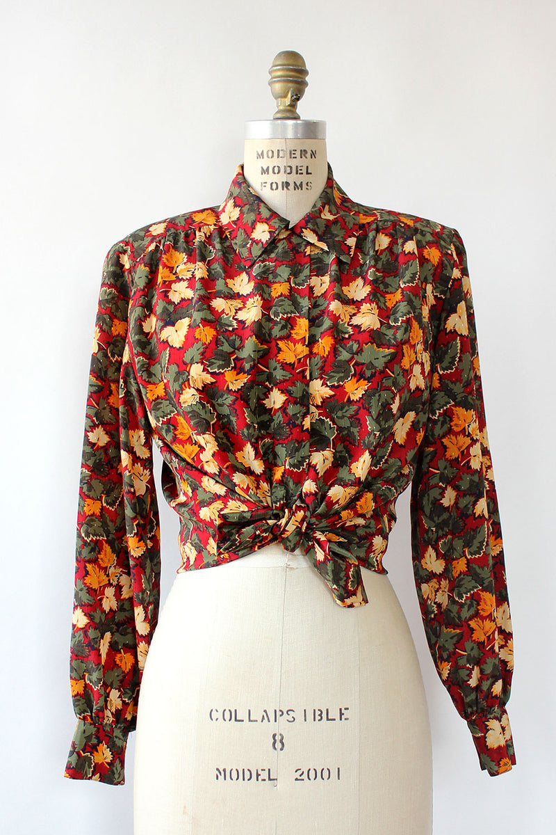 Picone Falling Leaves Blouse M