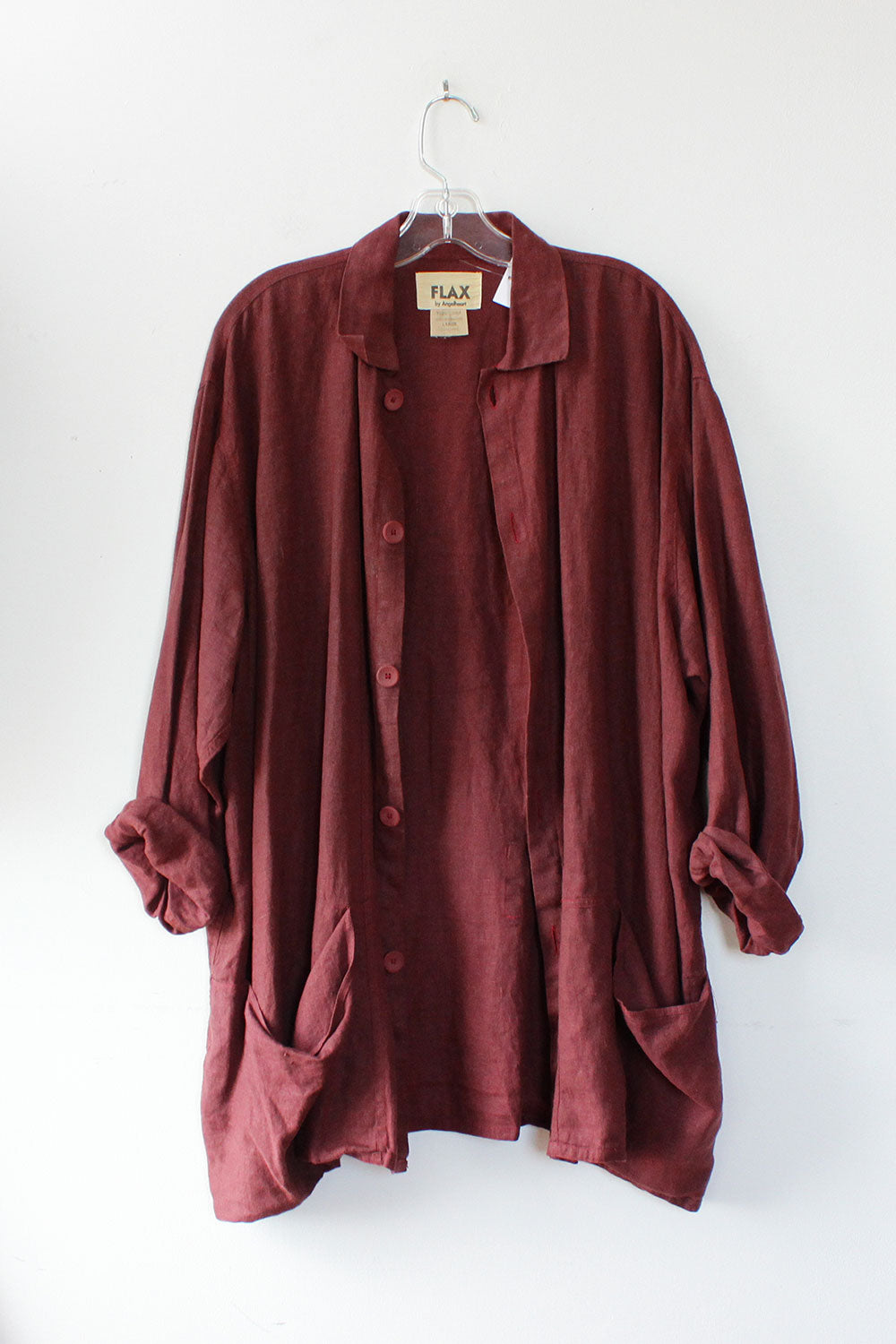 Flax Mulberry Linen Jacket OS