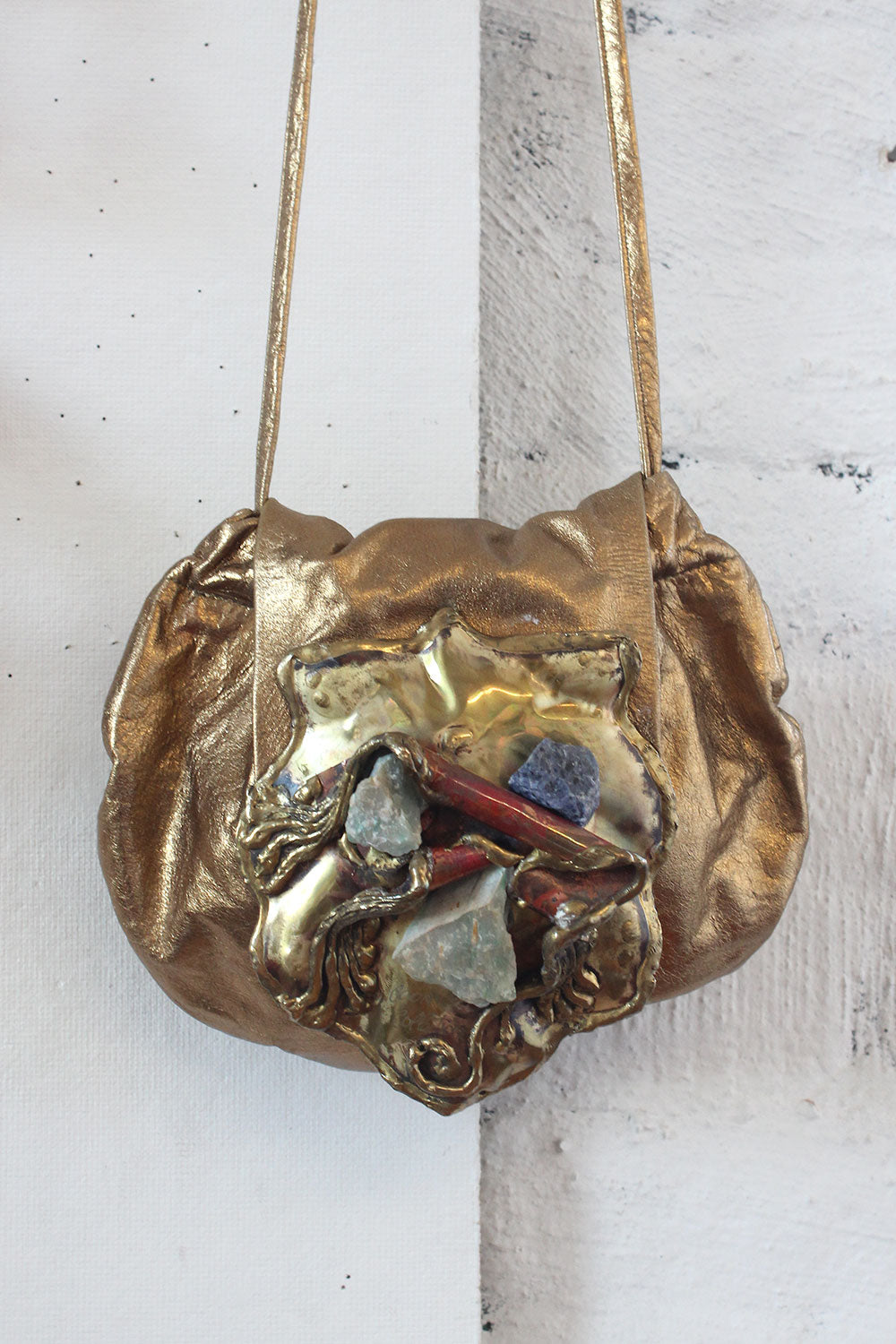 Copa Brutalist Bronze Leather Purse