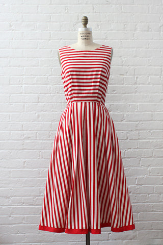 Nautical Flag Pleat Dress M/L