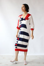 Lillie Rubin Anchor Knit Dress S/M