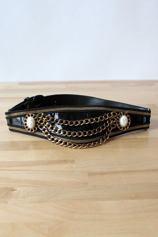 Vanilla Beaded Clutch
