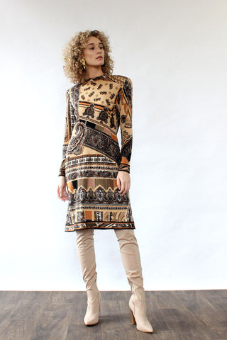 Floral Embroidered Sweater Dress S/M