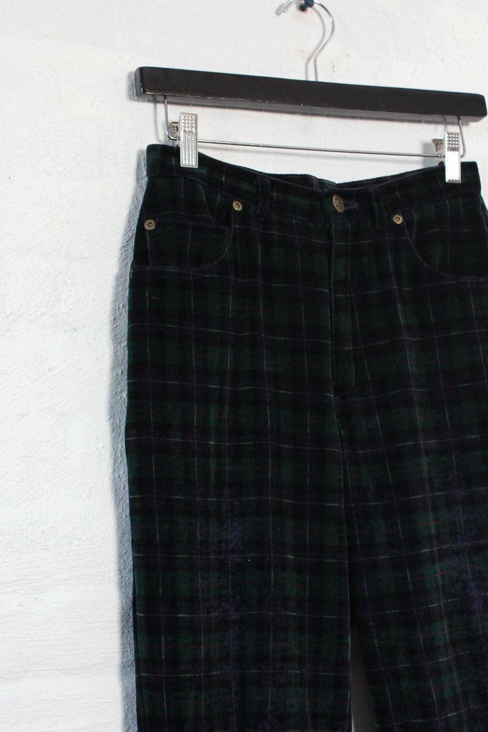 Jones Velvet Tartan Pants S