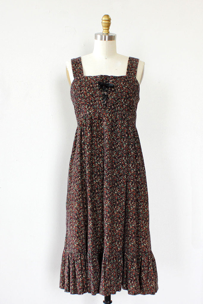 Corduroy Peasant Dress S