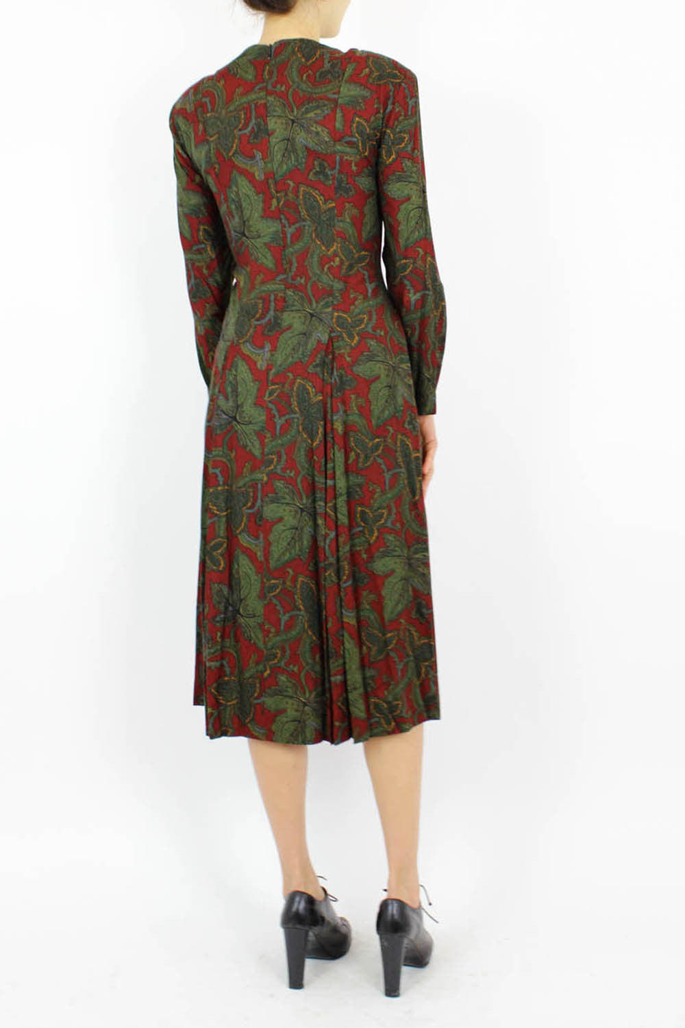 Cynthia Rowley Leaf Print Dress M