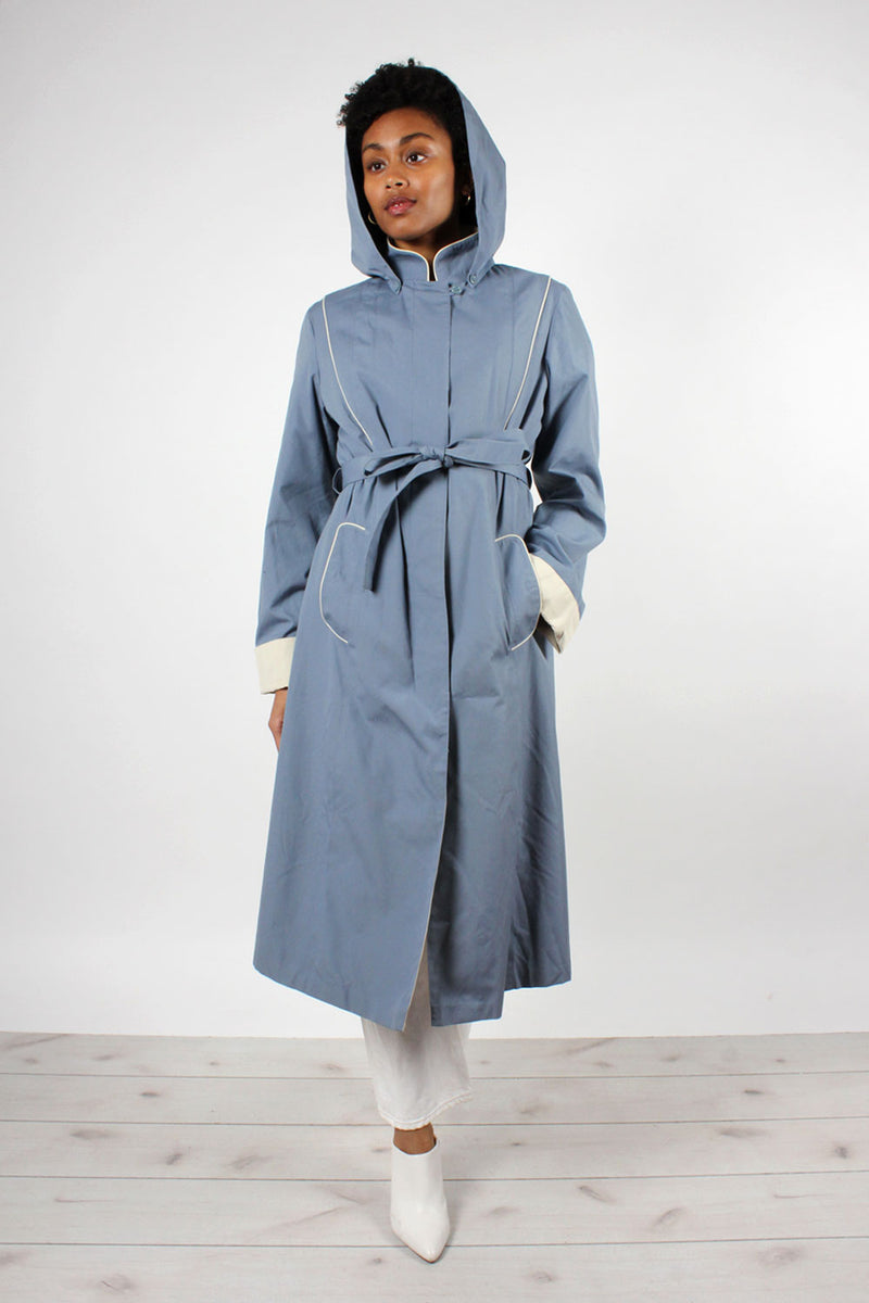 Slate Blue Trench Coat M/L