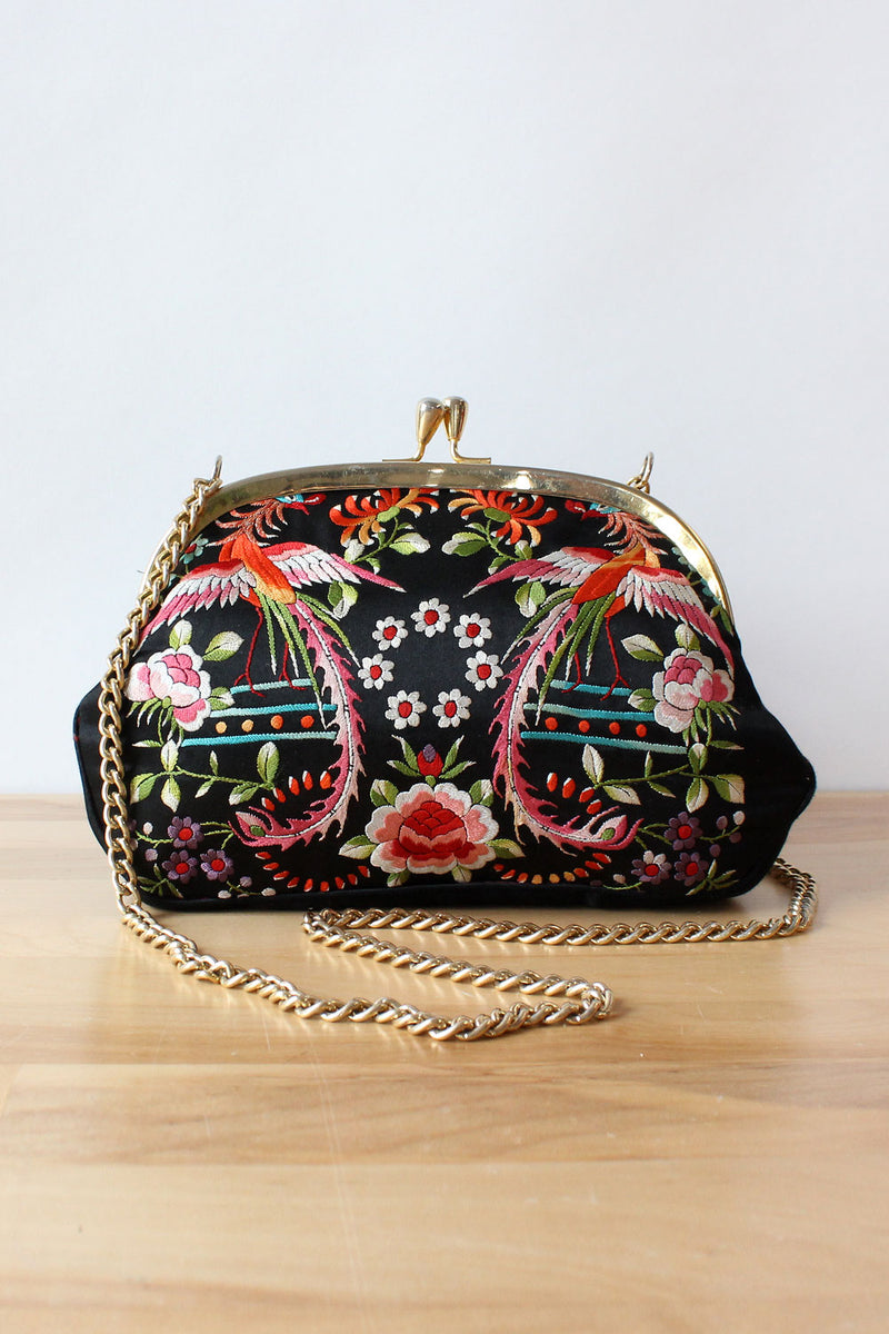 Phoenix Embroidered Purse