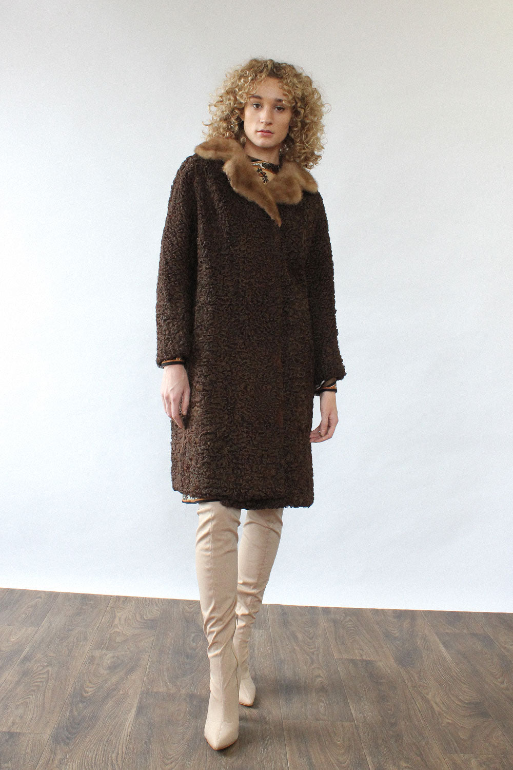 Cocoa Persian Lamb Coat S/M