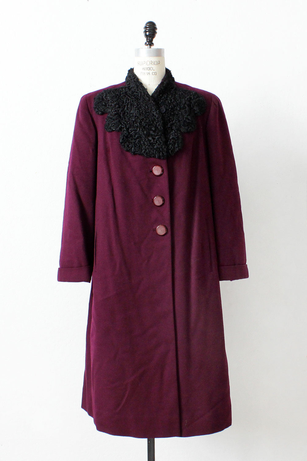 Persian Purple 1940s Coat L
