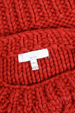 Chunky Cropped Red Sweater S