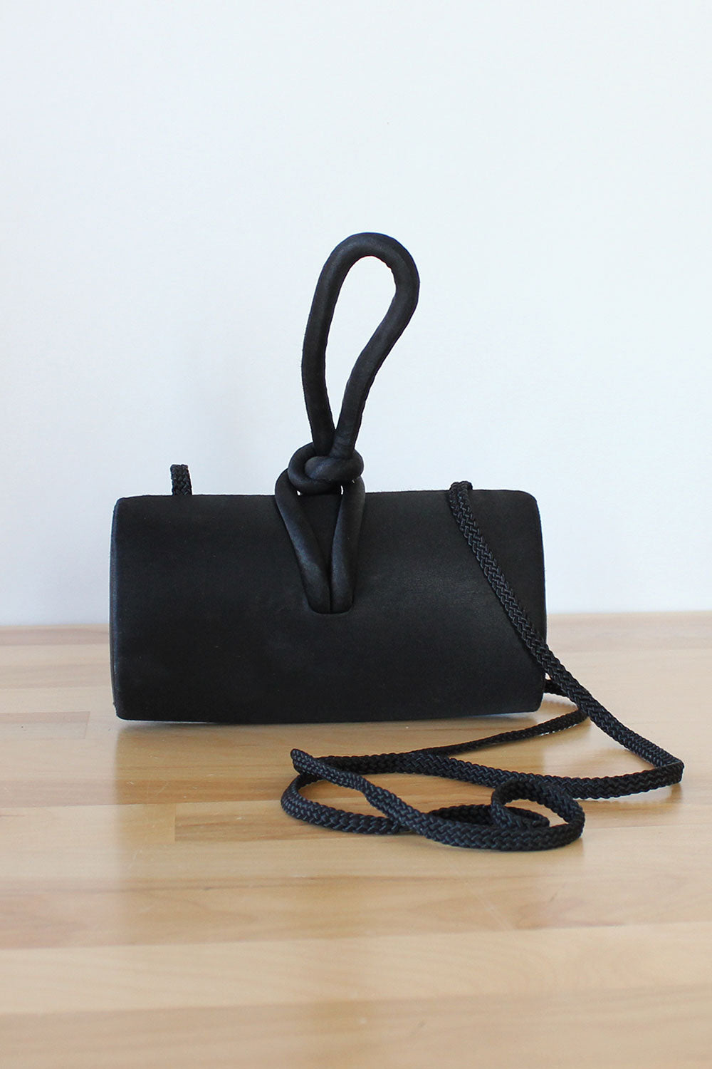 Loop Knot Sateen Purse