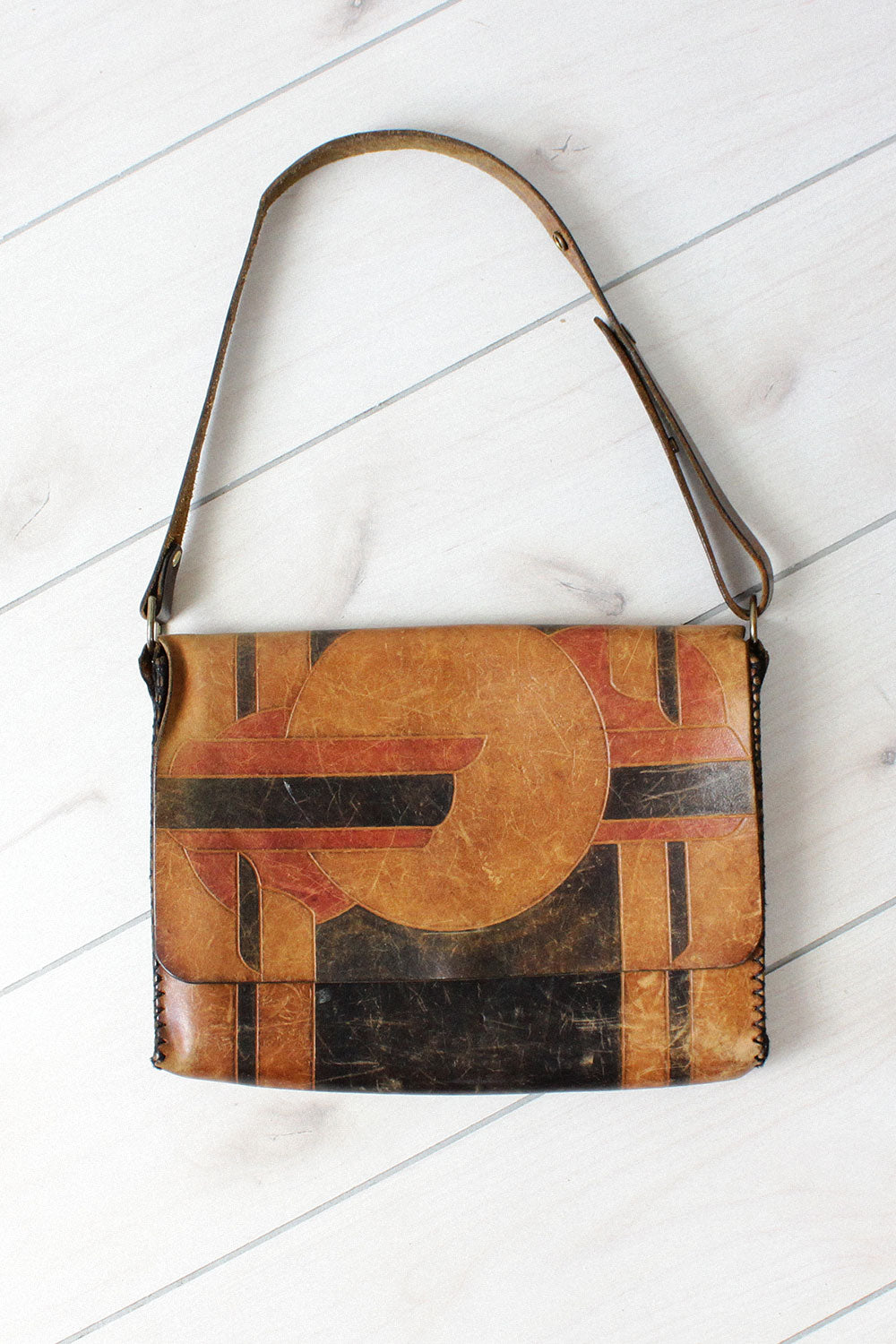 Deco Tooled Satchel Bag