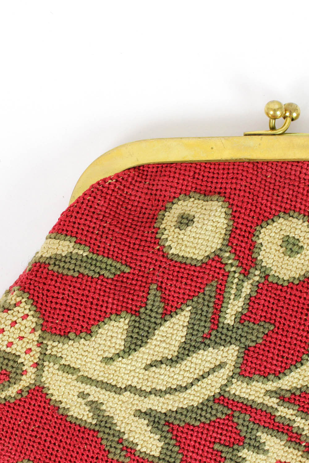 Aurore needlepoint clutch