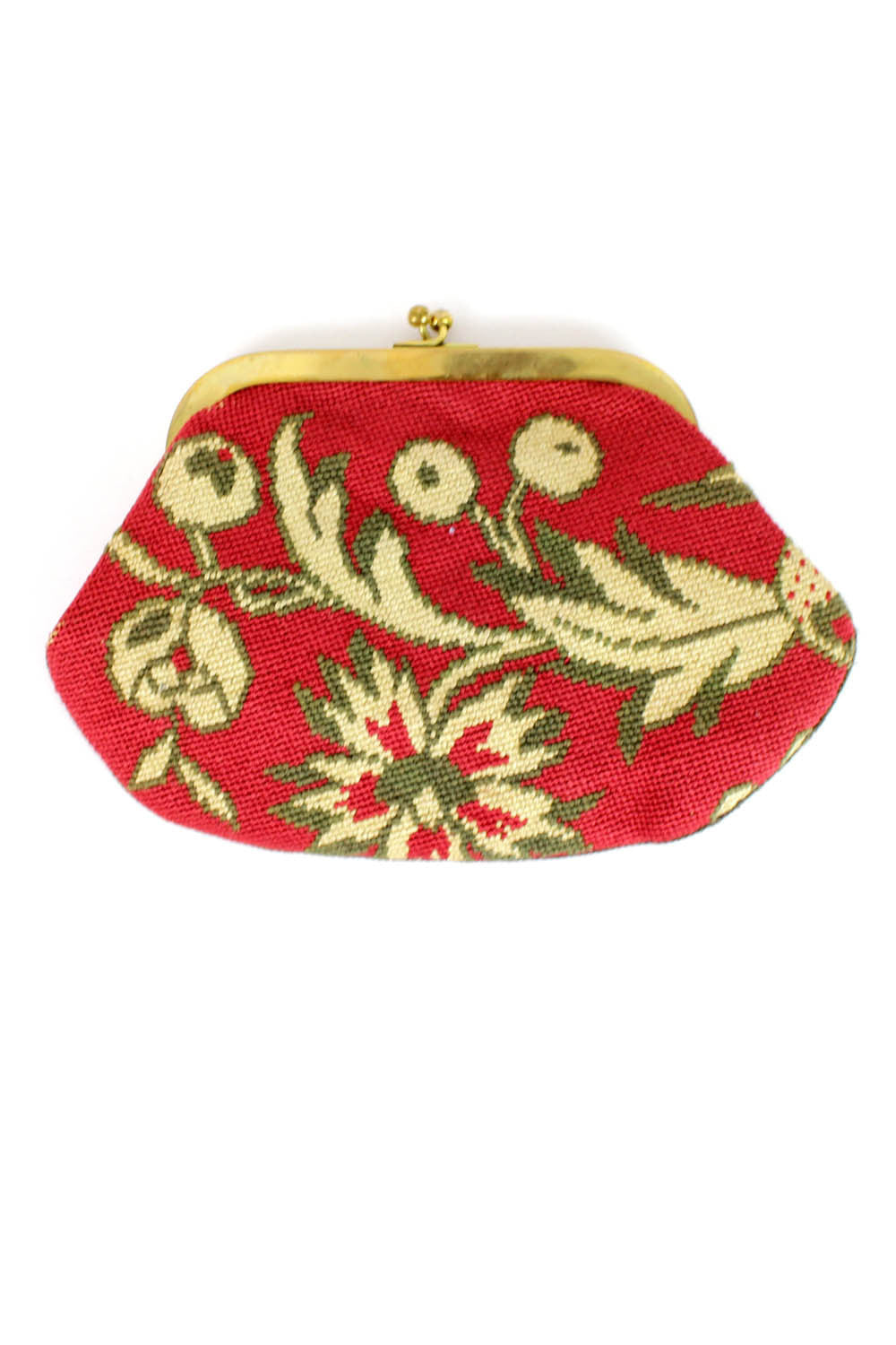 vintage needlepoint clutch
