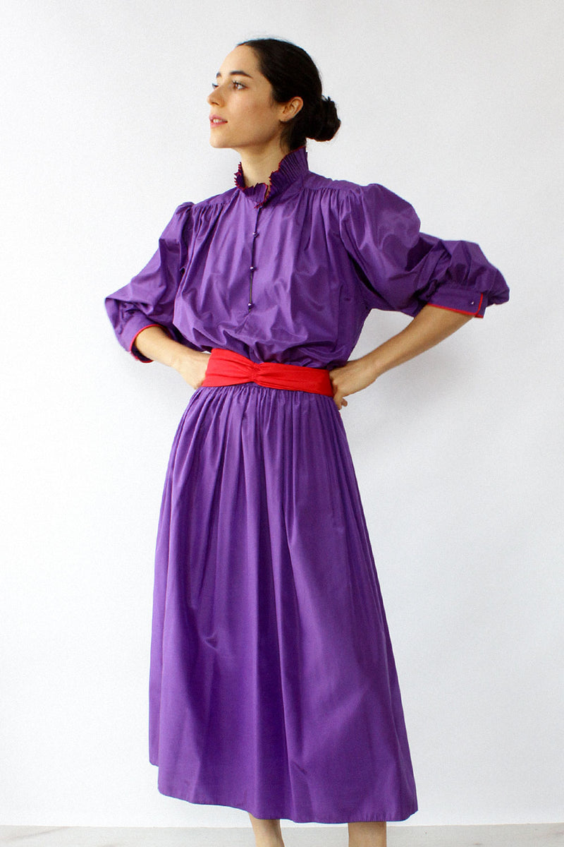 Kay Unger Taffeta Puff Dress M