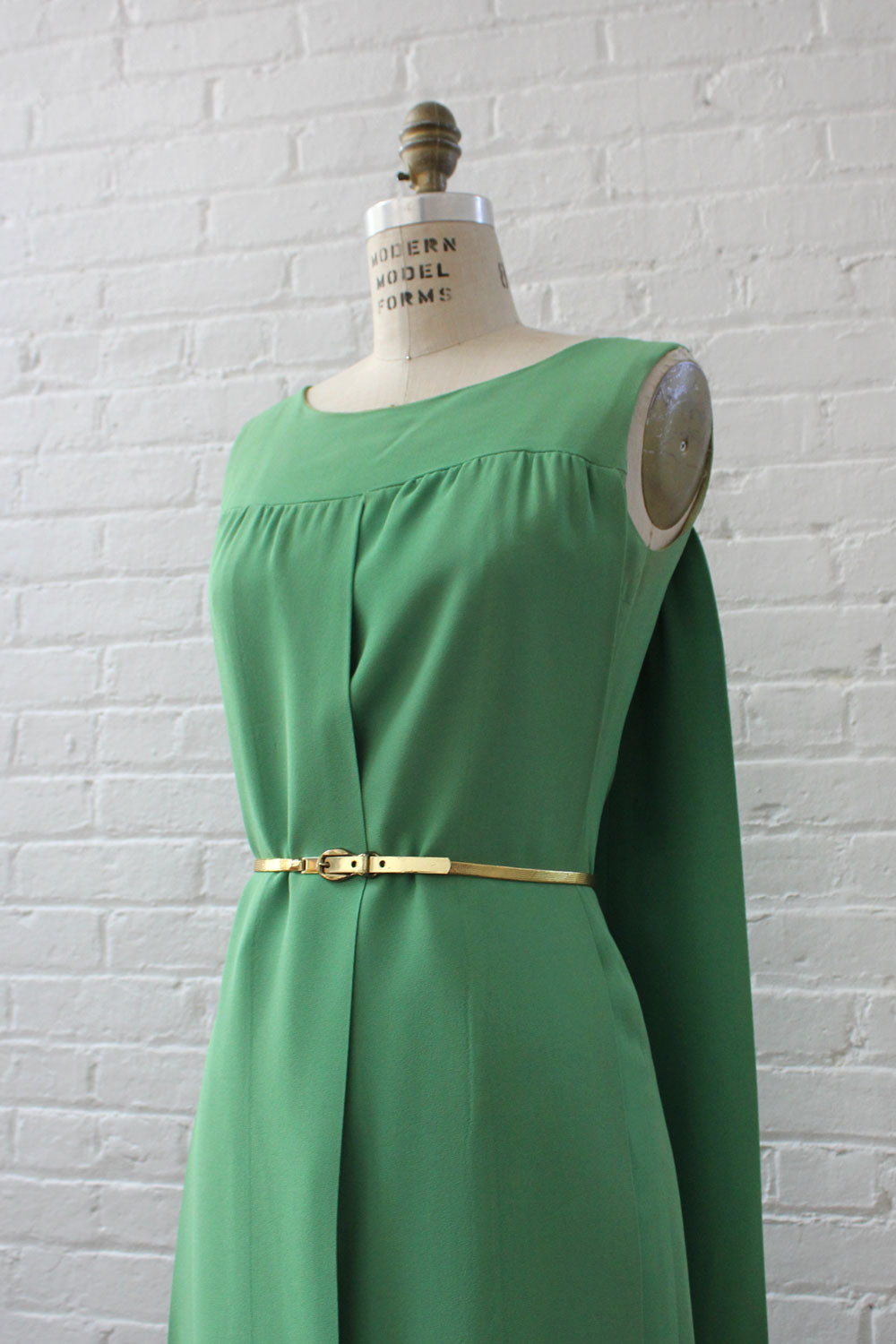 Citrus Green Sash Dress M