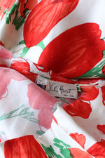 Kiki Hart Silk Poppy Calypso Dress M