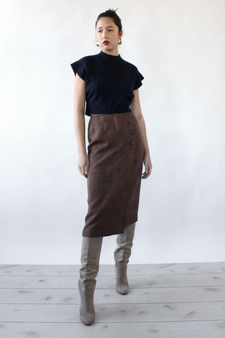 Peck & Peck Midcentury Cotton Skirt XS