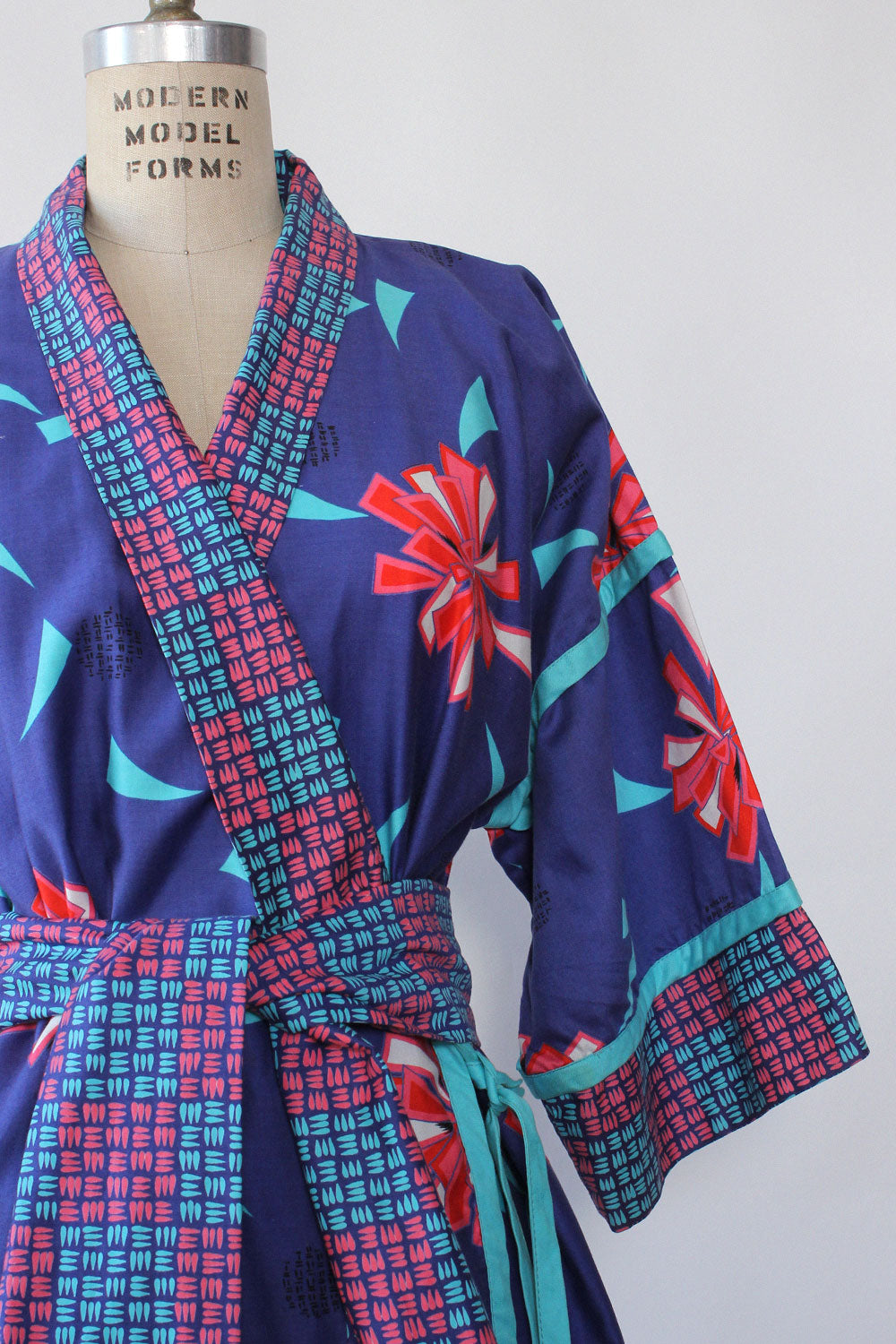 Jeanne Marc Geo-Floral Robe XS-M
