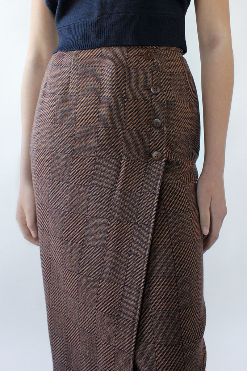 Jaeger Houndstooth Pencil Skirt XS