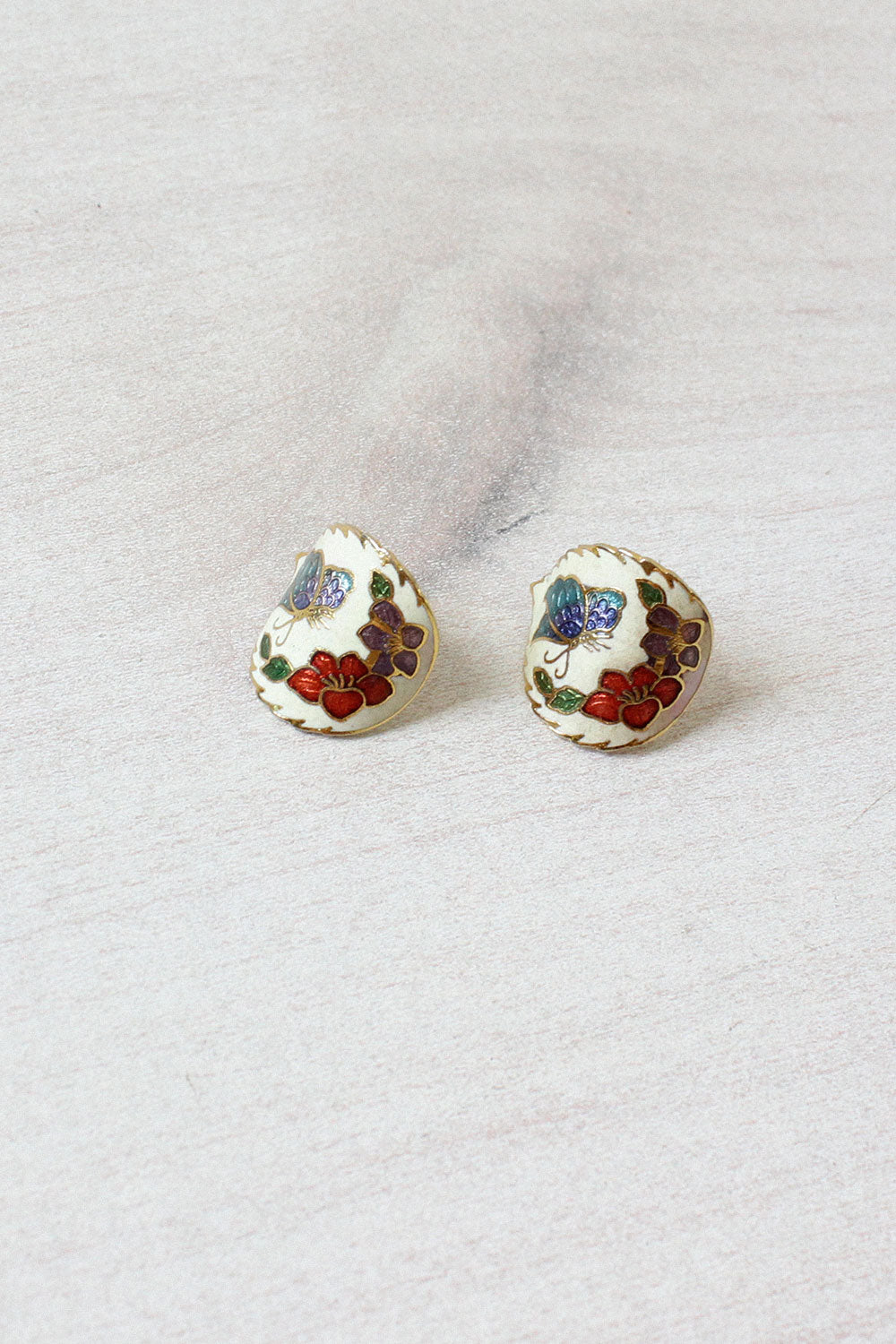Cloisonné Butterfly Earrings