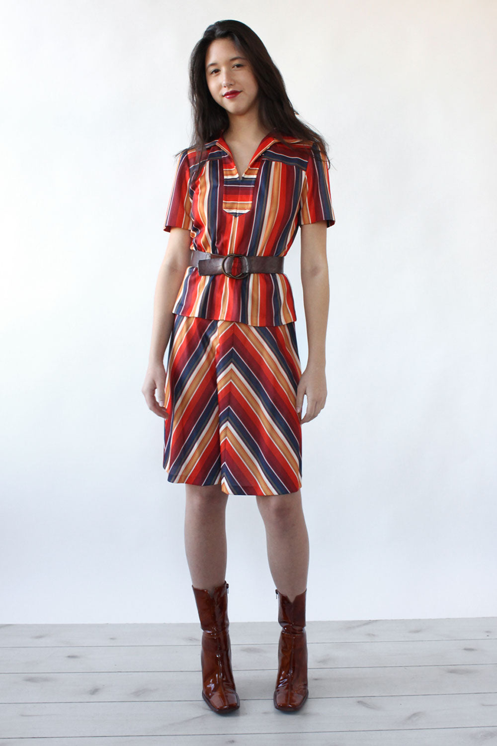 Sunset Stripe Ensemble S