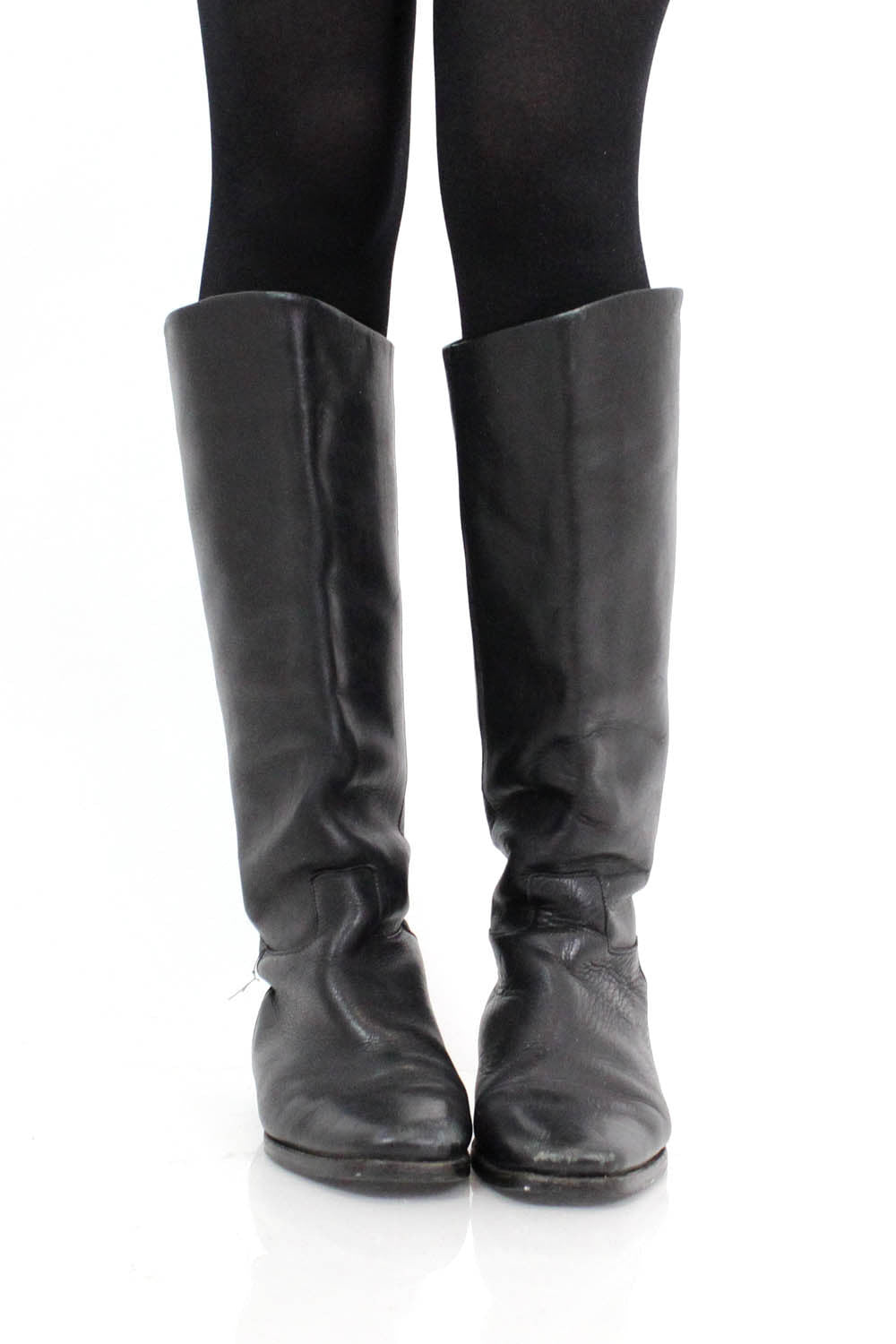 Black Leather Riding Boots 9