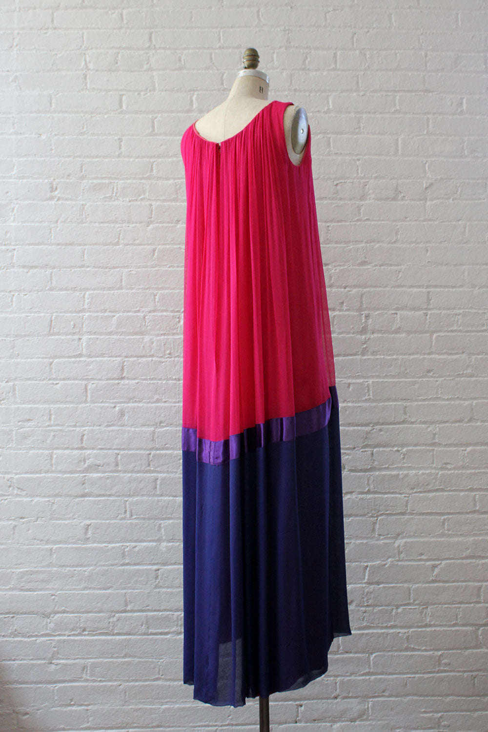 Royal Silk Chiffon Gown S/M