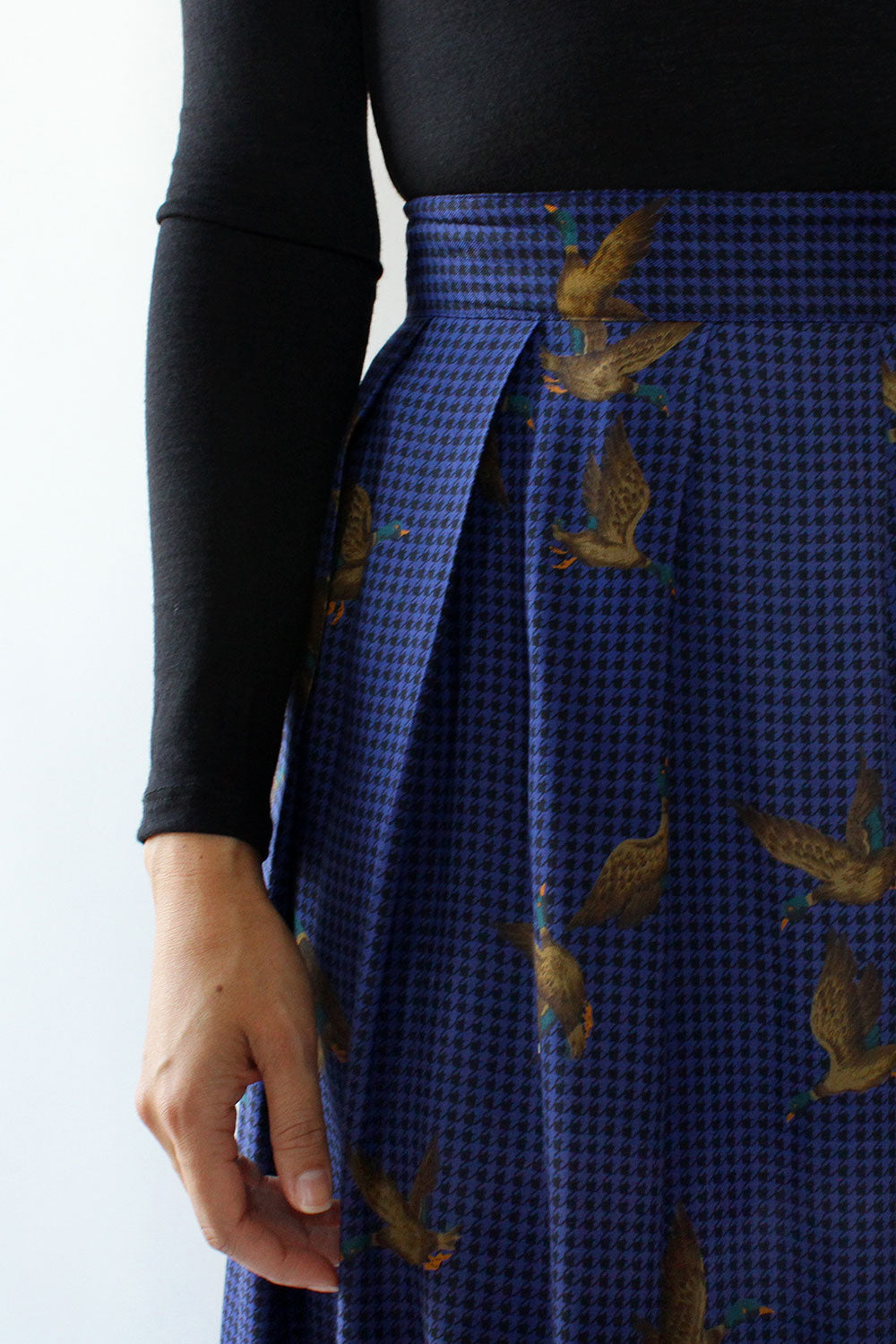 Mallard Duck Print Skirt XL