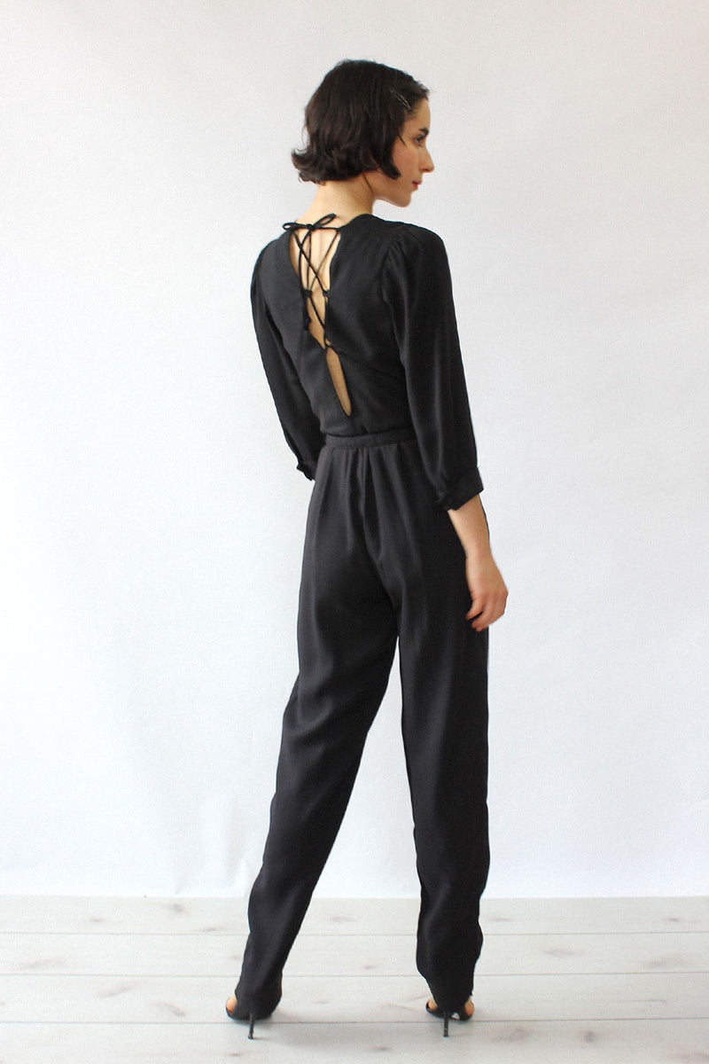 Lace-up Back Jumpsuit XS/S