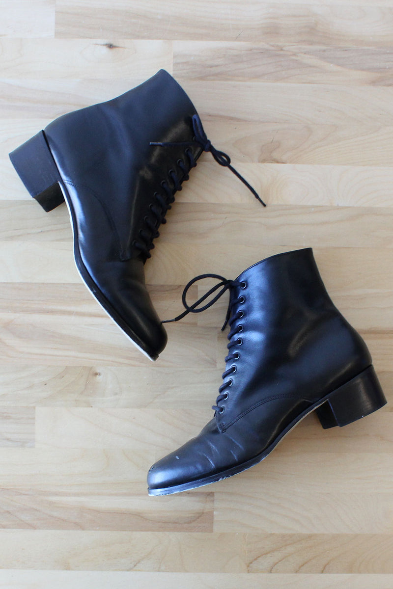 Lace-up Leather Bootie 8 - 8 1/2