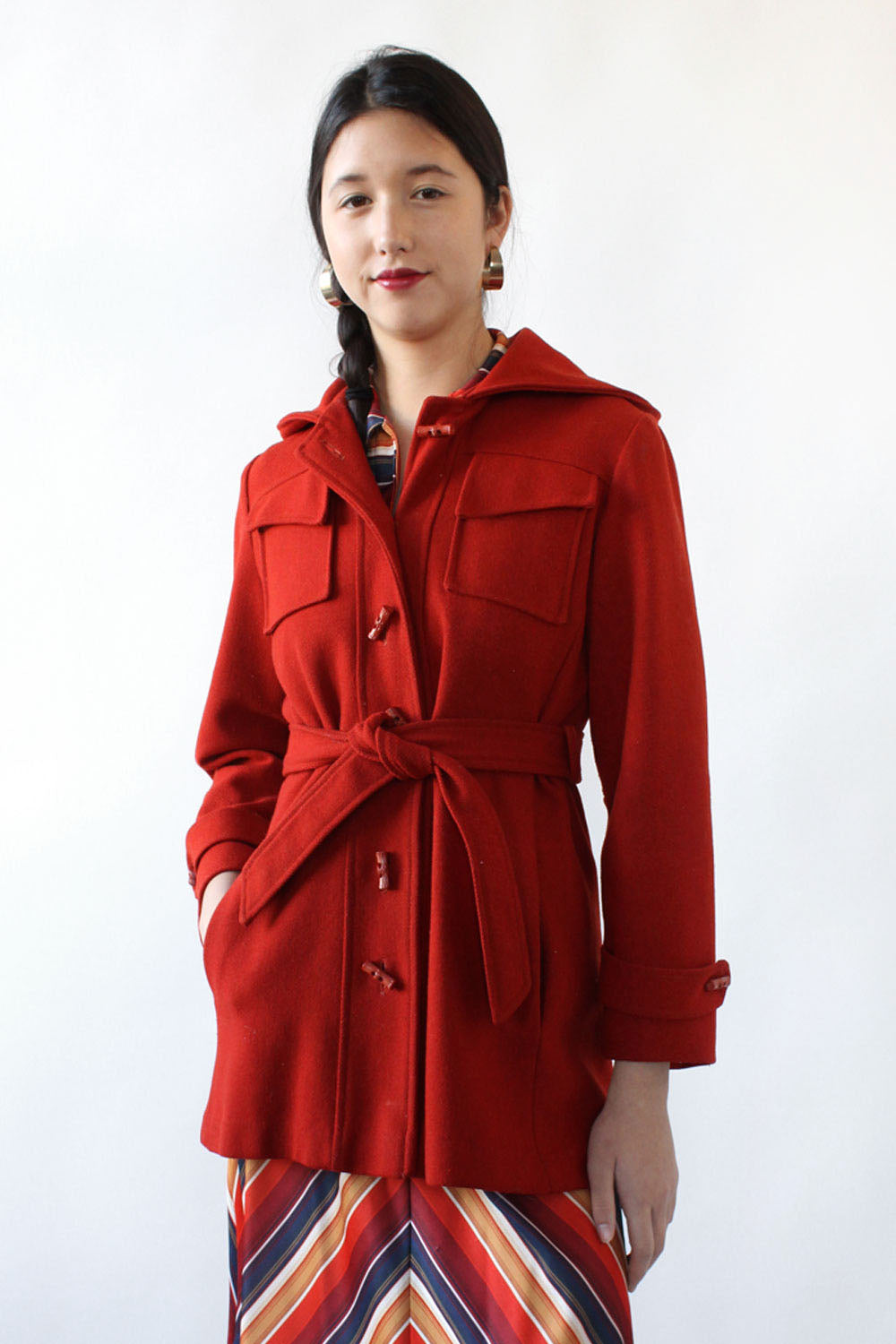 Brick Toggle Hooded Coat S