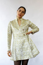 Metallic Brocade Dress Tunic S