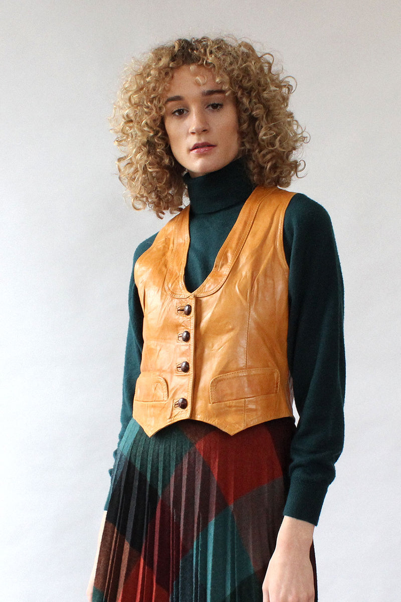 Butternut Leather Vest M