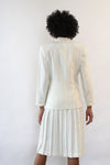 Ivory Pleated Skirt Suit XS/S
