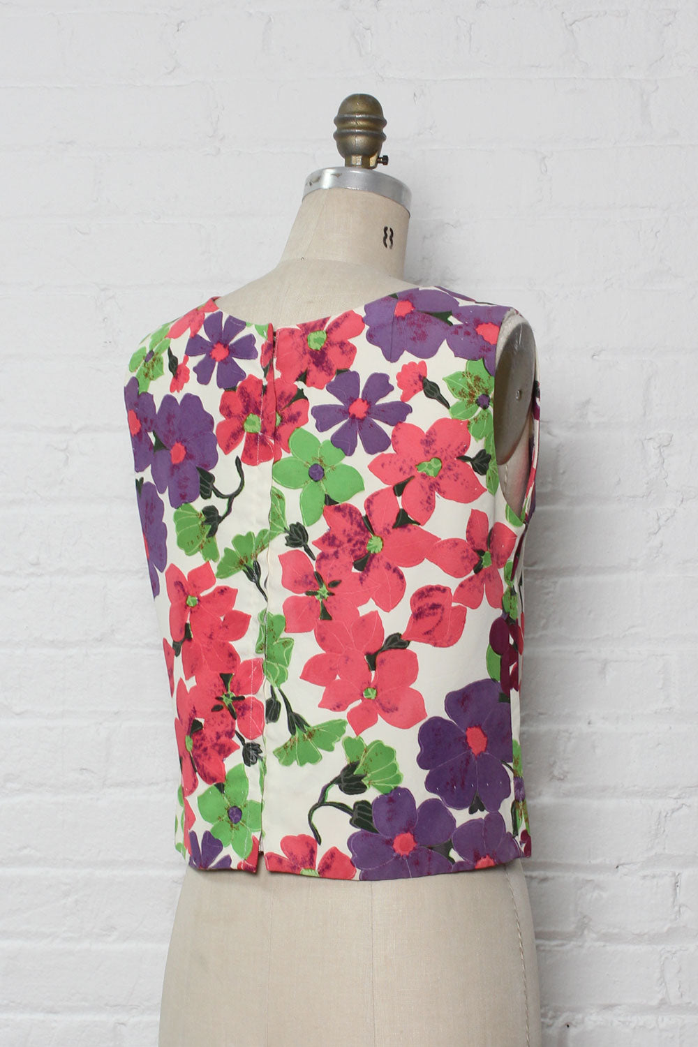 Vibrant Floral Shell Top M/L