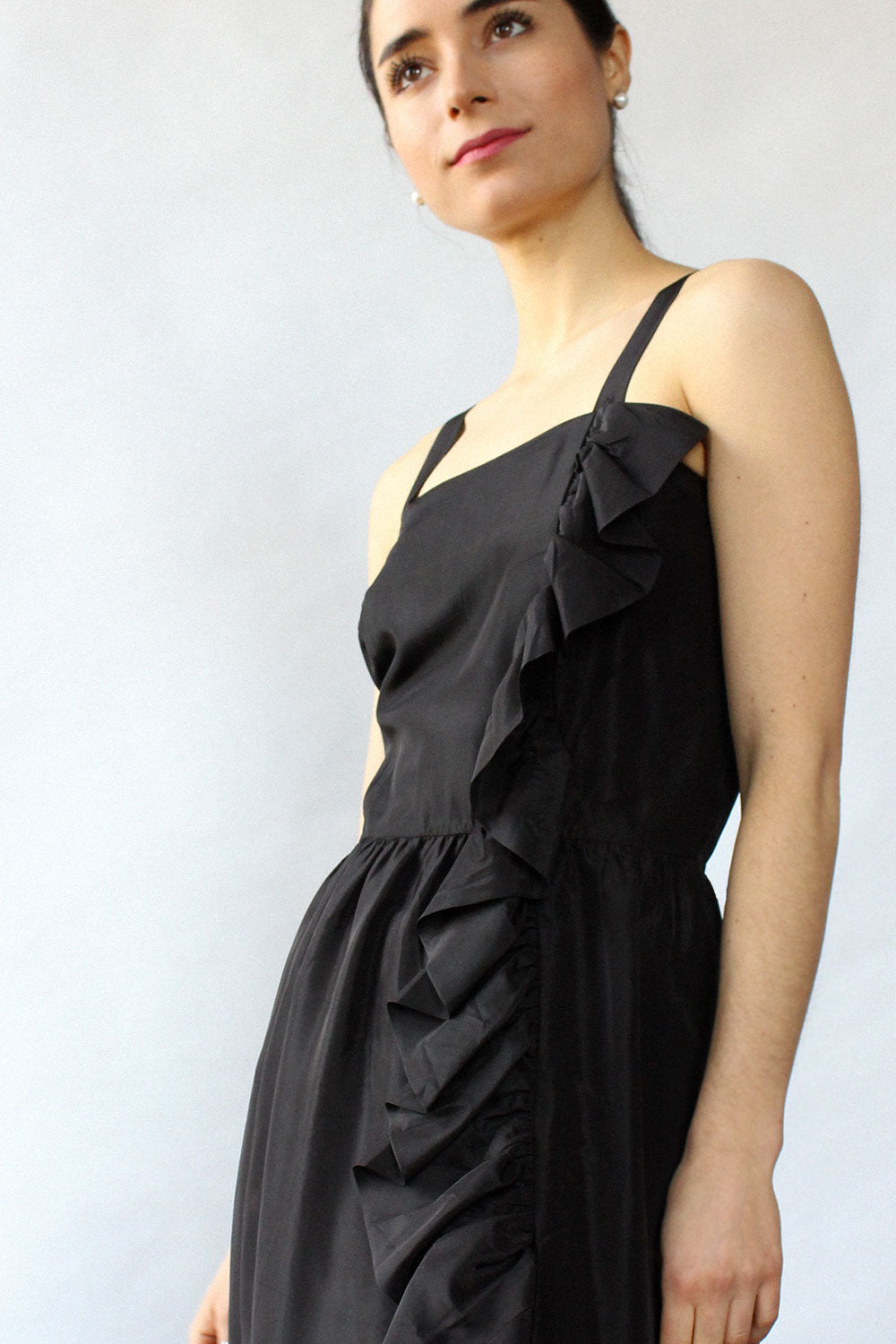 Ruffled Taffeta Dress M